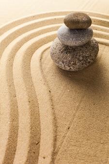 Дзен сад медитации камень