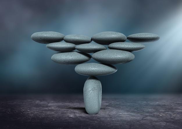 禅のような石のバランスの概念