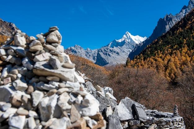 Zen rocks on the hill