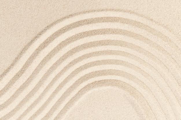 Дзэн песчаная волна текстурированный фон в концепции осознанности