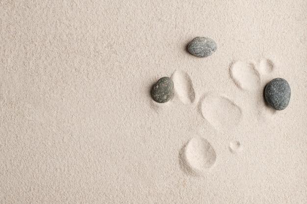 Zen pietre sabbia sfondo concetto di salute e benessere