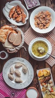 аzeri national cuisine of dyushbar, gyurza and piti