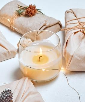 Нулевые отходы и экологически чистая рождественская концепция.