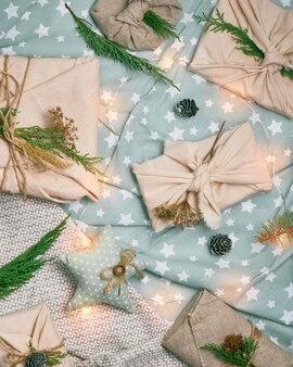 Безотходная и экологически чистая рождественская концепция