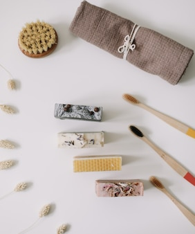 Zero waste bathroom accessories natural organic soap plastic free and eco friendly  products