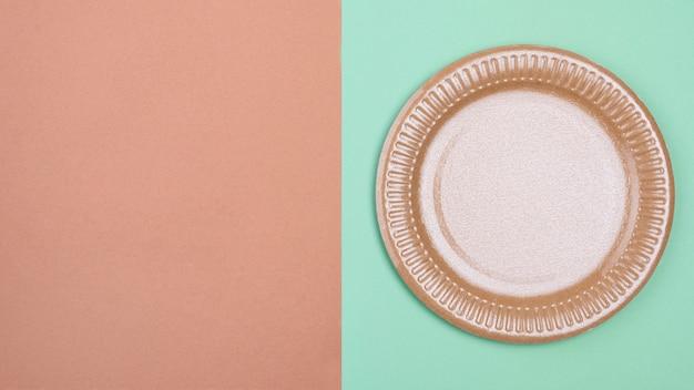 Zero waste biodegradable tableware copy space