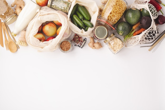 Zero waste concept. eco-friendly shopping
