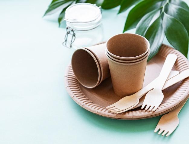 Zero waste concept, paper tableware