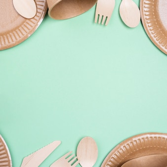 Zero waste copy space biodegradable tableware