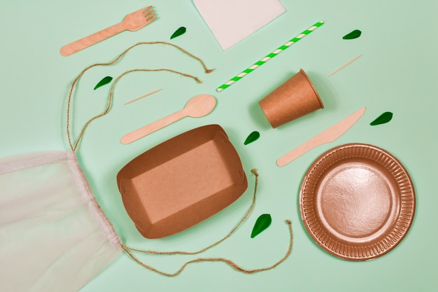 Безотходная, экологически чистая, одноразовая, картонная, бумажная посуда