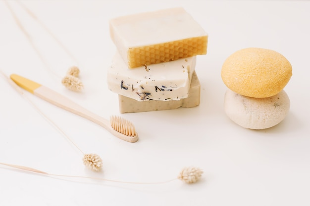 Zero waste kitchen accessories and natural organic soap