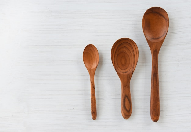 Zero waste kitchen wooden spoon cooked rice ladle