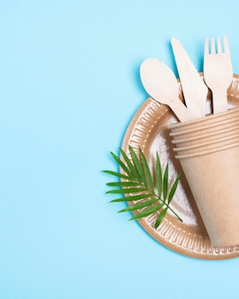 Zero waste paper cups and cutlery