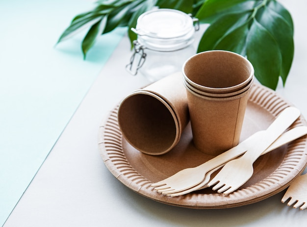 Zero waste , paper tableware