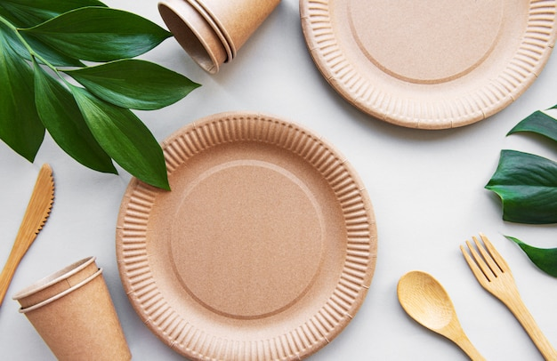 Zero waste ,  recycled tableware