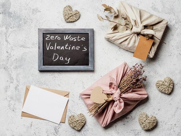 Zero waste valentine's day concept