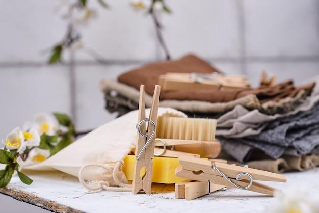 ゼロウェイスト木製洗濯ばさみ