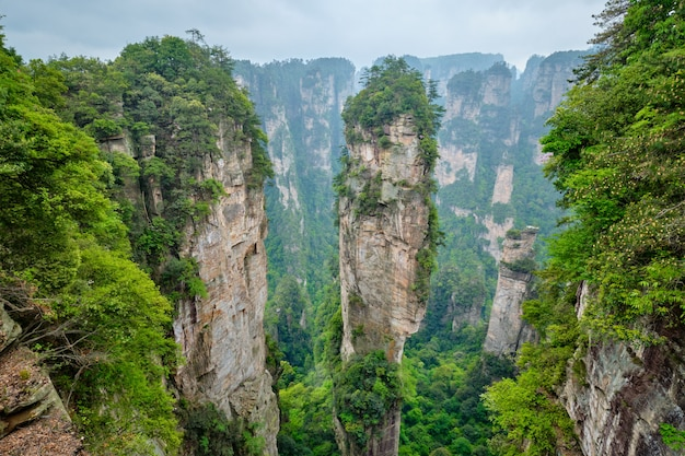 張家界山、中国