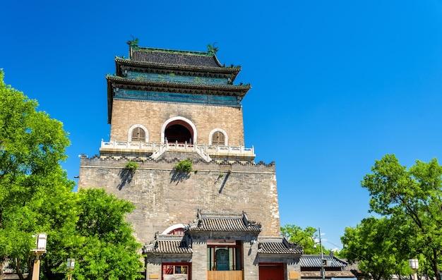 베이징의 zhonglou 또는 bell tower-중국