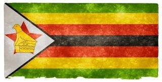 Zimbabwe grunge flag  retro