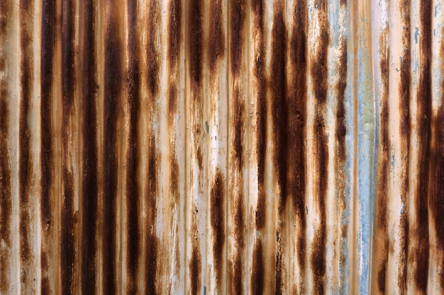 Zinced steel with rust stripes background