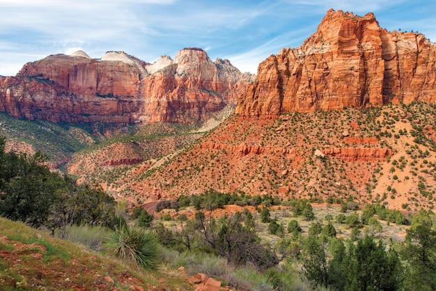 Zion park landscape utah