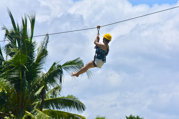 The zip line jungle file activity is a challenging
