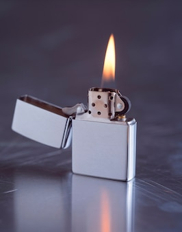 Zippo with flame