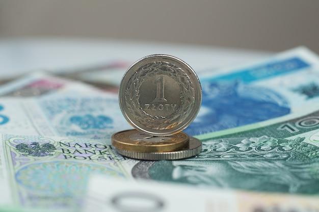 Zlotowka, polish currency close up