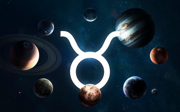 星座-おうし座。太陽系の真ん中。 nasaによって提供されたこの画像の要素