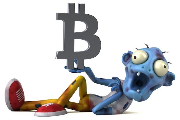 ゾンビとビットコインのイラスト