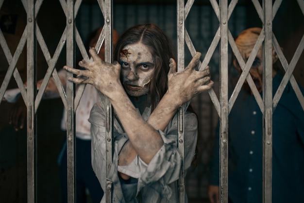 엘리베이터 바 뒤의 좀비, 죽음의 함정, 치명적인 추격전. 도시의 공포, 소름 끼치는 크롤리 공격, 종말의 종말, 피 묻은 괴물