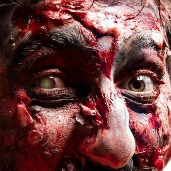Occhi zombie vicino