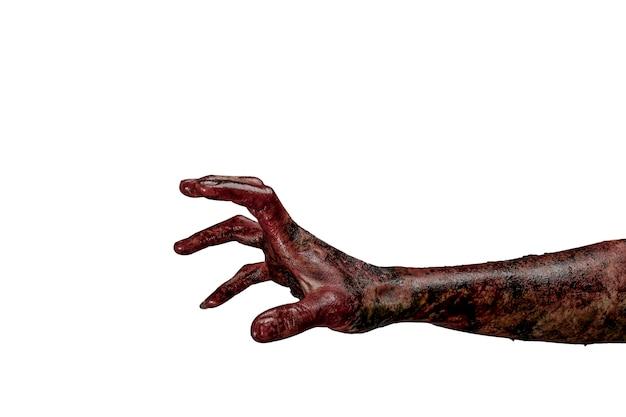 Mano di zombie. concetto di tema di halloween.