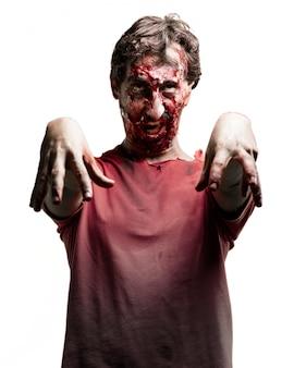 Zombie hands hanging