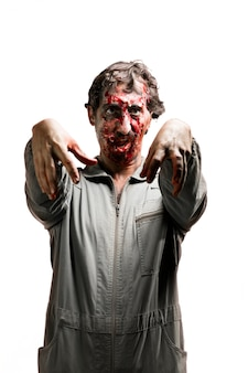 Zombie with open mouth