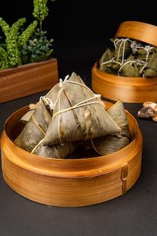 Zongzi or bakcang chinese savoury sticky rice dumplings