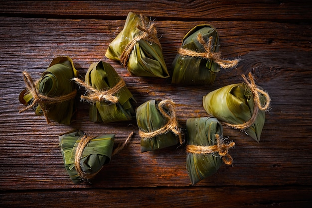 Zongzi glutinous sticky rice dumplings recipe