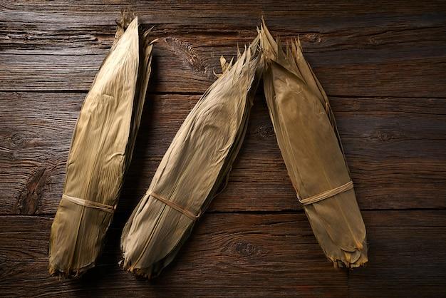 Zongziレシピ用の乾燥竹の葉