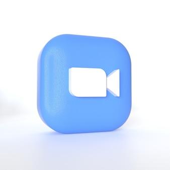 3d 렌더링으로 확대 / 축소 응용 프로그램 로고