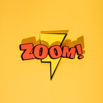 Zoom cartoon exclusive font tag expression on thunderbolt