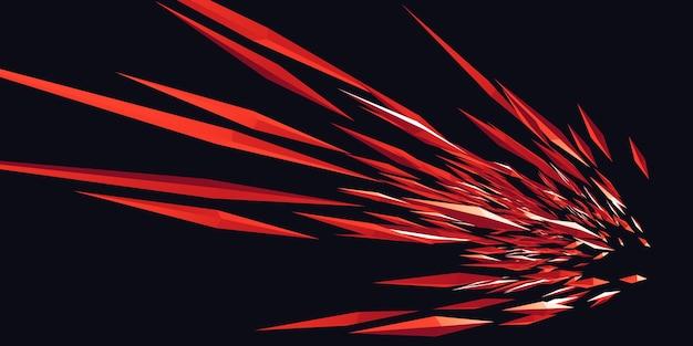 シャープなラインと三角光の3dイラストのzoomデザイン爆発