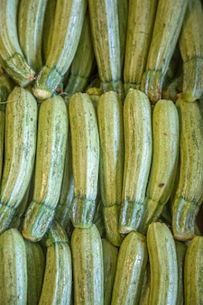 Zucchini on the market