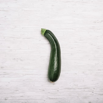 Zucchini on white background