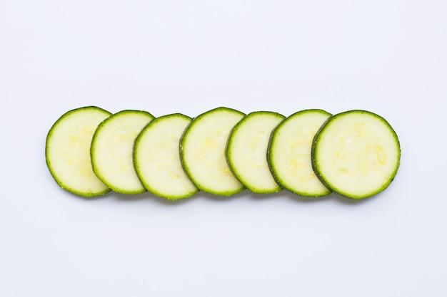 Zucchini slices copy space