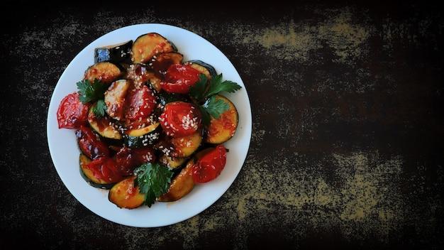 ズッキーニと野菜のお皿