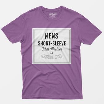 Мужские макеты с коротким рукавом футболки 05