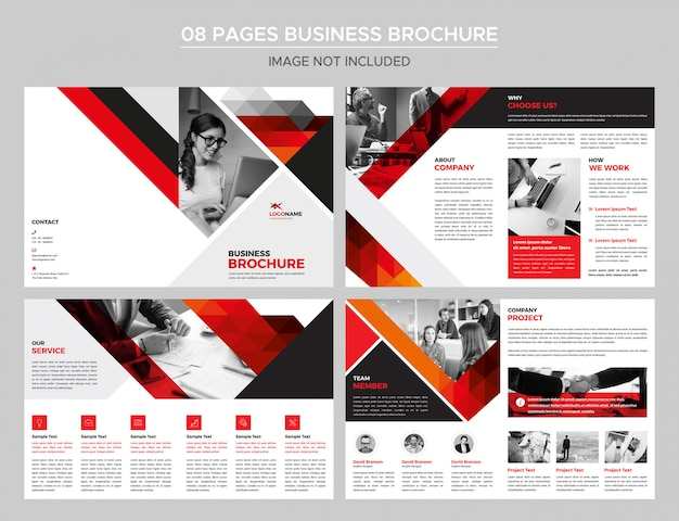 08 pages business brochure