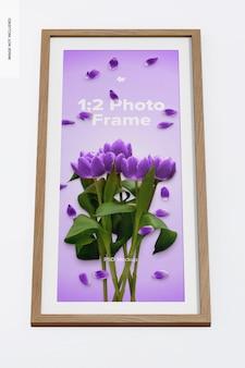 1:2 photo frame mockup