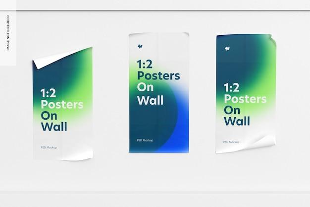 벽 모형에 1 : 2 포스터, 전면보기